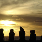 Picture - Sunset over Moai.