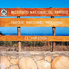 Picture - Park sign for Parque Nacional Mochima (Mochima National Park).