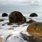 Picture - Water over the Moeraki Boulders.