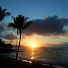 Picture - Sunset over Molokini Island.