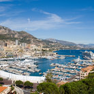Picture - View over the harbor of Monaco.