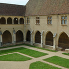 Picture - Courtyard of the Brou Monastery.