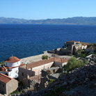 Picture - Monemvasia, a resort town opposite a fortified site.