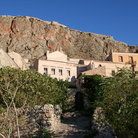Picture - Houses at the base of a hill in Monemvassia.