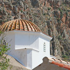 Picture - Church dome in the town of Monemvasia.