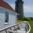 Picture - A boat on the grounds at the Monhegan Island Lighthouse.