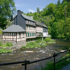 Picture - The river through Monschau.