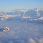 Picture - Aerial view of Mont Blanc.