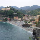 Picture - Beach and town of Monterosso al Mare.