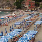 Picture - Beach umbrellas at Monterosso al Mare.