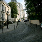 Picture - A narrow street in Montmartre.
