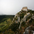 Picture - The hilltop ruins of chateau de Montsegur.