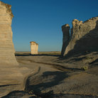 Picture - Chalk Pyramids, also known as Monument Rocks in Kansas.