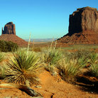 Picture - Rock formations in Monument Valley.
