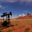 Picture - Rusing equipment in Monument Valley.