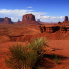 Picture - Red landscape of Monument Valley.