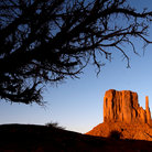 Picture - West Mitten Butte at sunset in the Monument Valley Navajo Tribal Park.