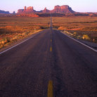 Picture - Highway through Monument Valley.