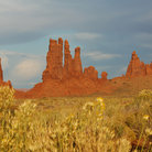 Picture - Rock towers in Monument Valley Navajo Tribal Park.
