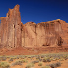 Picture - Rain God Mesa in Monument Valley Navajo Tribal Park.