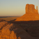Picture - Sunset on a mitten mesa in Monument Valley.