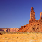 Picture - Three sister mesa in Monument Valley Navajo Tribal Park.