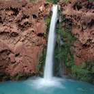 Picture - Mooney Falls on the Havasupai Indian Reservation.