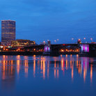 Picture - The Morrison Bridge seen in the evening in Portland.