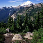 Picture - Mount Baker in Mount Baker-Snoqualmie National Forest.