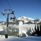 Picture - Ski lift at a ski hill on Snoqualmie Pass.