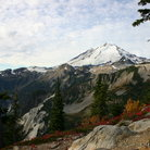 Picture - Mount Baker as viewed from Heather Meadows in Washington.