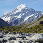 Picture - Snow capped Mount Cook.