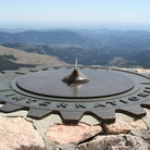 Picture - Sun clock on top of Mount Evans.