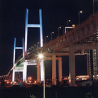 Picture - Yokohama bay bridge at night.