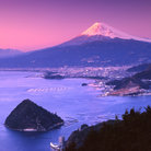 Picture - Suruga Bay in front of Mount Fuji.