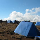 Picture - Camp life on Mt. Kilimanjaro.
