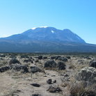Picture - The Shira route leading up to the peak of Mt. Kilimanjaro.