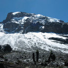 Picture - The snow capped peak of Mt. Kilimanjaro.