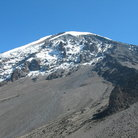 Picture - The scree leading up to the peak of Mt. Kilimanjaro.