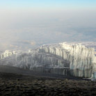 Picture - Glacier view from the summit (Uhuru Peak) Mt. Kilimanjaro.