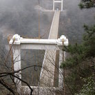 Picture - Bridge in the mist at Lushan.