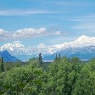 Picture - The peaks of Mount McKinley and Foraker in Denali National Park.