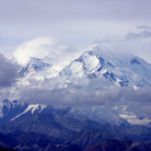 Picture - Snow covered Mount McKinley.