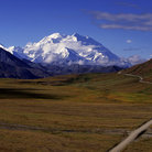 Picture - Highway with Mount McKinley in behind.