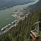 Picture - View over Juneau from the Mt. Roberts tramway.