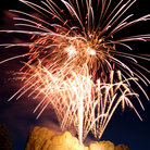 Picture - Fireworks over Mount Rushmore.