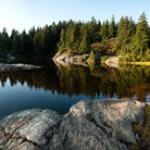 Picture - A lake in Mount Seymour Provincial Park.