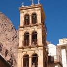 Picture - Steeple in St. Catherine's monastery.