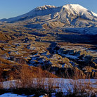 Picture - Light snow at Mount St Helen National Monument.