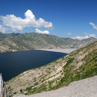 Picture - Spirit Lake at Mount St. Helens, Washington.